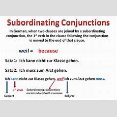 Coordinating And Subordinating Conjunctions In German  Wwwgermanforspaldingorg Youtube