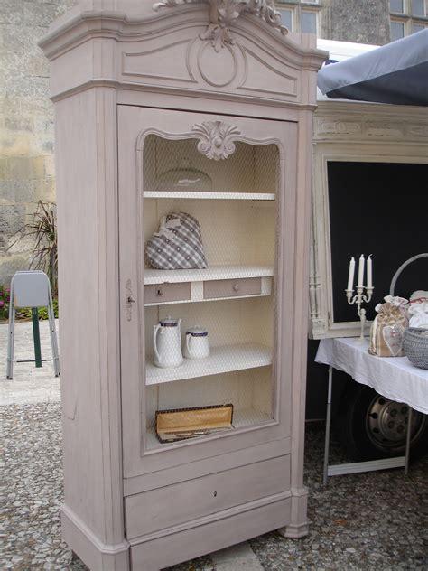 retaper armoire de cuisine magnifique bonnetière grillagée patine taupe meubles