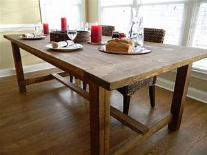 Farmhouse wooden kitchen tables as ageless rustic interior for Dining table farmhouse