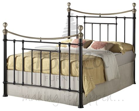 style metal beds classic vintage victorian style metal bed 4ft6 and 5ft antique brass finials