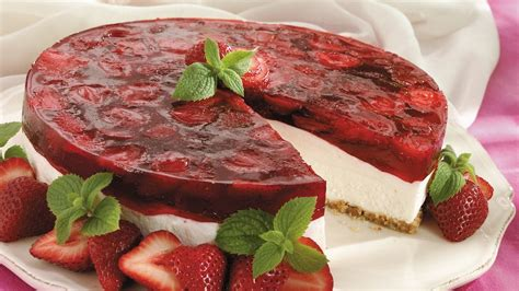 recipes with cheese desserts strawberry cheese dessert recipe from pillsbury