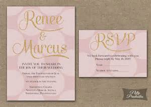 kinkos wedding invitations pink gold wedding invitations printable pink by niftyprintables