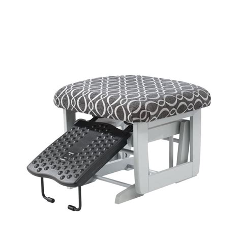 dutailier glider rocker and ottoman dutailier multiposition glider and ottoman in charcoal