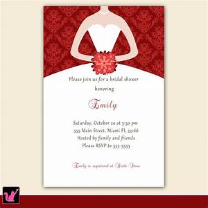 Bridal shower bridal shower invitations samples card for Samples of wedding shower cards