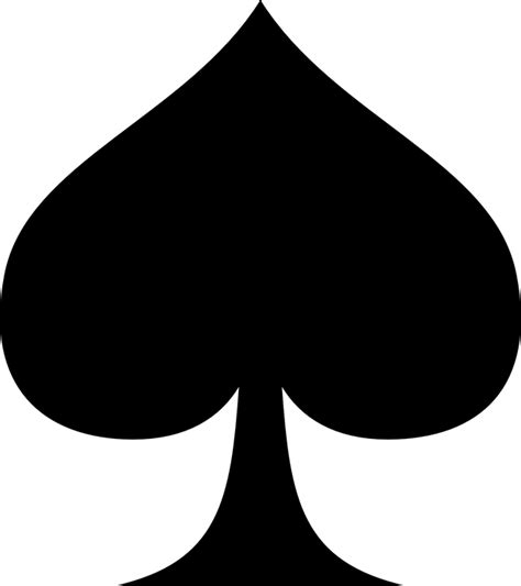 spades card free vector graphic suit of spades spade spades free image on pixabay 145116