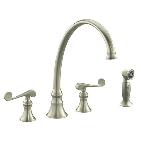 brushed bronze kitchen faucets kohler revival 2 handle standard kitchen faucet in vibrant