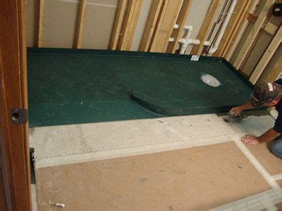 pre sloped ready  tile shower pan   curved