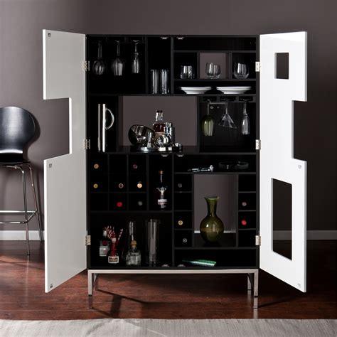 shadowbox winebar cabinet