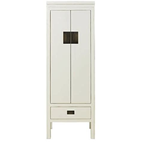 narrow storage cabinet distressed lacquer white