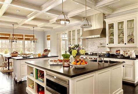 Single Wall With Double Island Kitchen Design