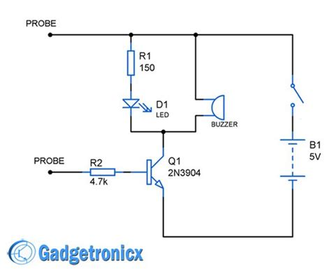 continuity tester circuit electronic circuits circuit circuit design electronics projects
