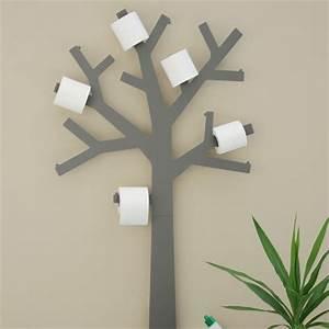 Etagere Papier Toilette : deco wc design arbre papier toilette par presse citron ~ Teatrodelosmanantiales.com Idées de Décoration