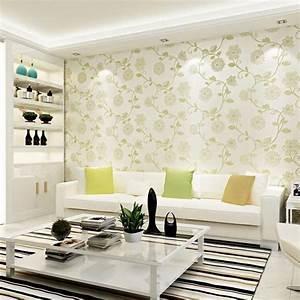 Embossed 3d Flower Wallpaper For Walls Pink Tapet For Wall