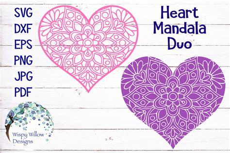 Heart mandala from glitter bomb creative. Heart Mandala Duo Bundle | Valentine's Day By Wispy Willow ...