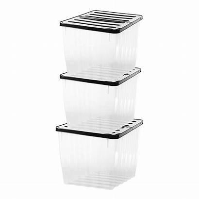 Plastic Storage Clear Box 110l Container Nova