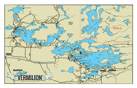 c 6 large lake vermilion classic map fisher maps