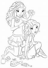 Hairdresser Coloring Lego Friends Olivia Getdrawings Getcolorings Printable sketch template