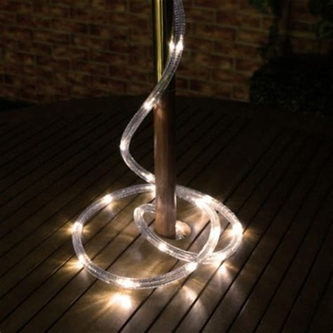 solar warm white rope light