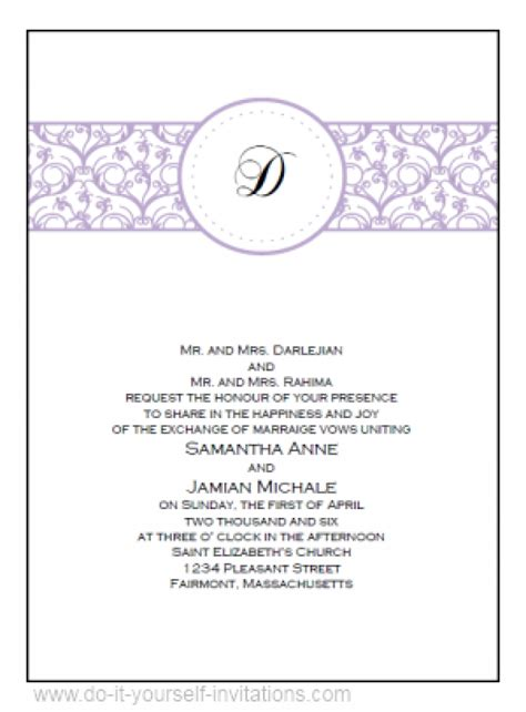 invitations to print free wedding invitation templates free downloads wblqual com