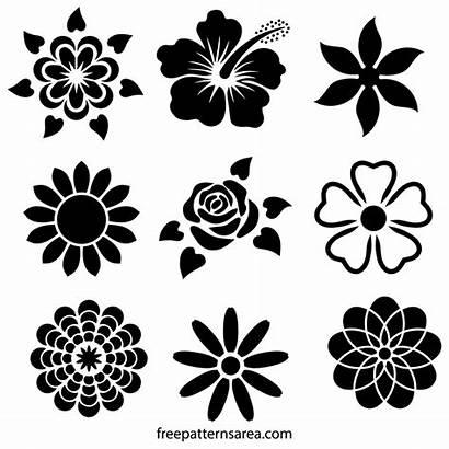 Stencil Flower Designs Svg Patterns Cool Clipart