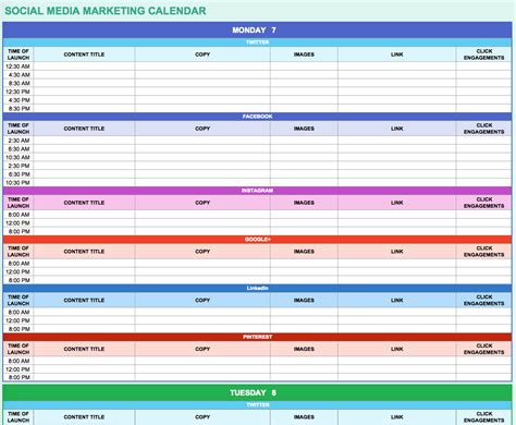 Calnedar Template by 9 Free Marketing Calendar Templates For Excel Smartsheet