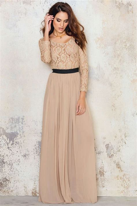 feel   princess   long sleeve lace maxi dress