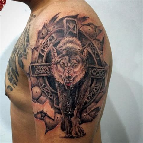 amazing wolf tattoo idea  designs  meaning