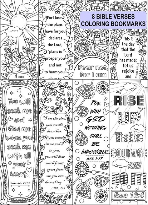 bible verse coloring bookmarks ricldp artworks