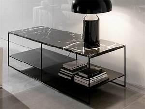 Table Marbre Noir : table basse en marbre 58 id es pour donner du style au salon ~ Teatrodelosmanantiales.com Idées de Décoration