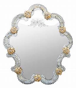 Miroir Vénitien Ancien : miroir v nitien en verre de murano dor ~ Preciouscoupons.com Idées de Décoration