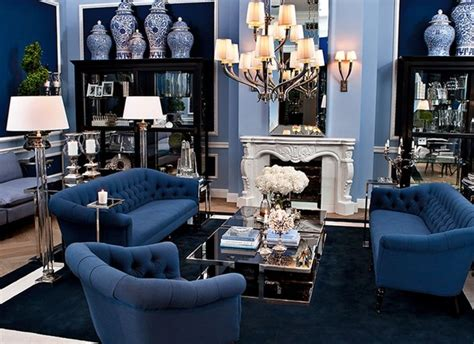deep blue color  latest interior collections home