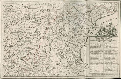 map  don quixotes route  spain digital