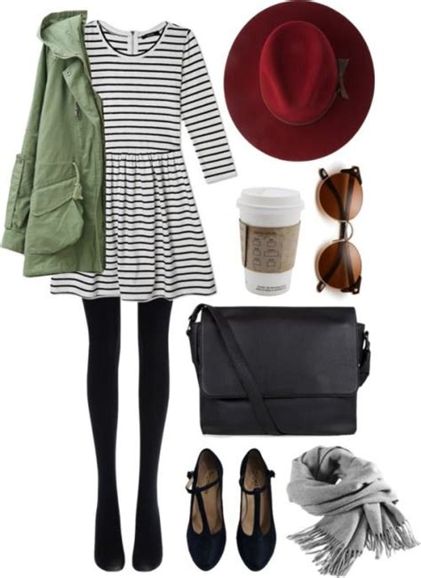 5 fun ways to wear dresses with tights at school or college - myschooloutfits.com