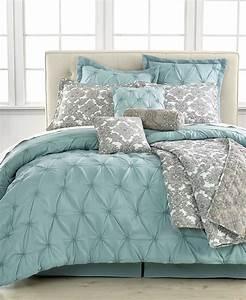 King Size Bettdecke : jasmine blue 10 piece california king comforter set bed in a bag bed bath macy 39 s ~ Indierocktalk.com Haus und Dekorationen
