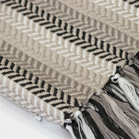 throwovers for settees knitted herringbone fringe throw blanket for sofa