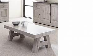 Table Basse Chene Gris : table basse contemporaine ch ne gris ~ Teatrodelosmanantiales.com Idées de Décoration