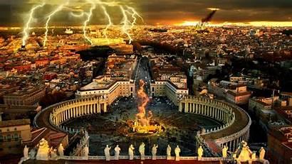 Vatican Damage Destruction Damaged Wallpapers Meteorite Lights