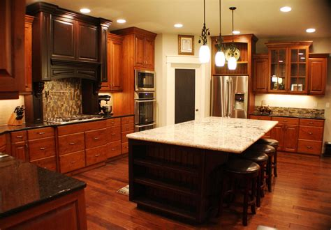 kitchen ideas with cherry cabinets pictures of kitchens with cherry cabinets white