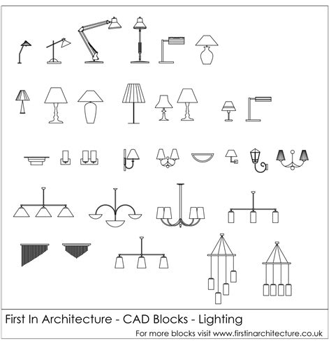 free cad blocks lighting in architecture
