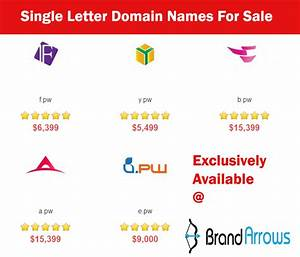 Brand arrows lists single letter domain names for sale for 5 letter domain names for sale