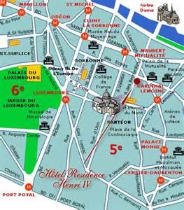Latin Quarter Paris Map