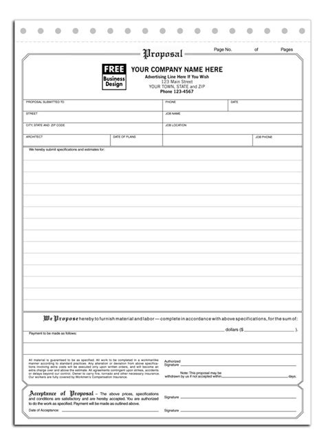 hvac bid proposal template top  insurance