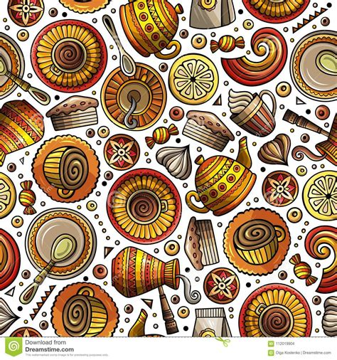 Most relevant best selling latest uploads. Cartoon Coffee Shop Seamless Pattern Stock Vector ...