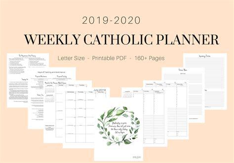 catholic weekly planner elizabeth clare