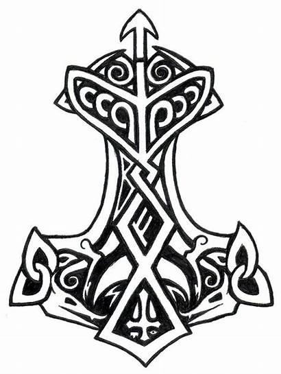 Thor Hammer Drawing Viking Norse Tattoos God
