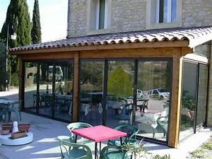 auto construction veranda a la place d39un terrasse 6 With veranda sur terrasse bois