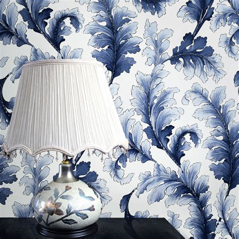 chinese blue  white porcelain wall mural wall paper