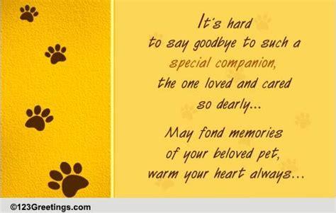 hard   goodbye  loss  pet ecards greeting cards