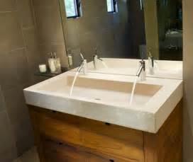 modern double trough sink from j aaron