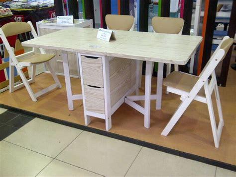 contoh gambar desain meja makan lipat minimalis